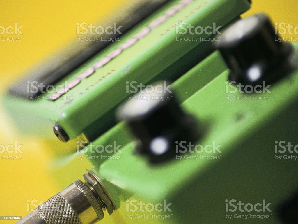 Macro Guitar Pedal stock photo