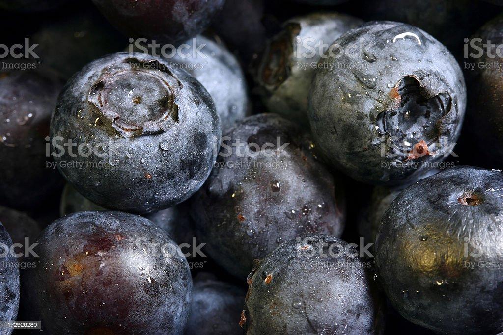 Macro Healthy Blueberries stock photo