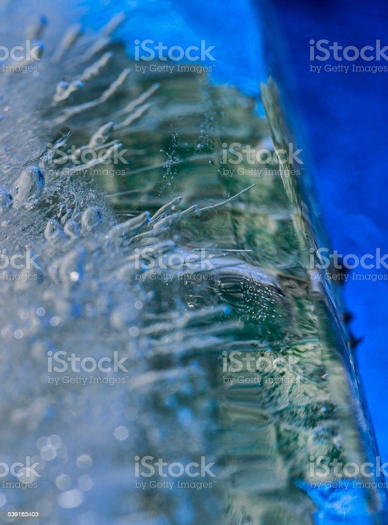 Macro ice stock photo