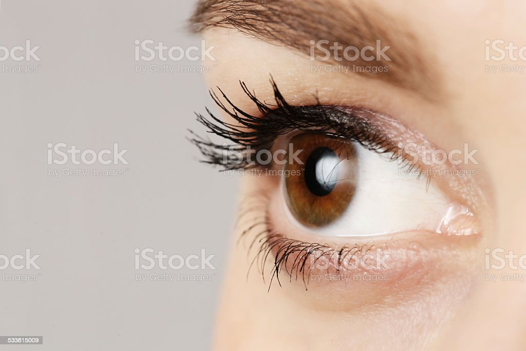Macro image of human eye stock photo
