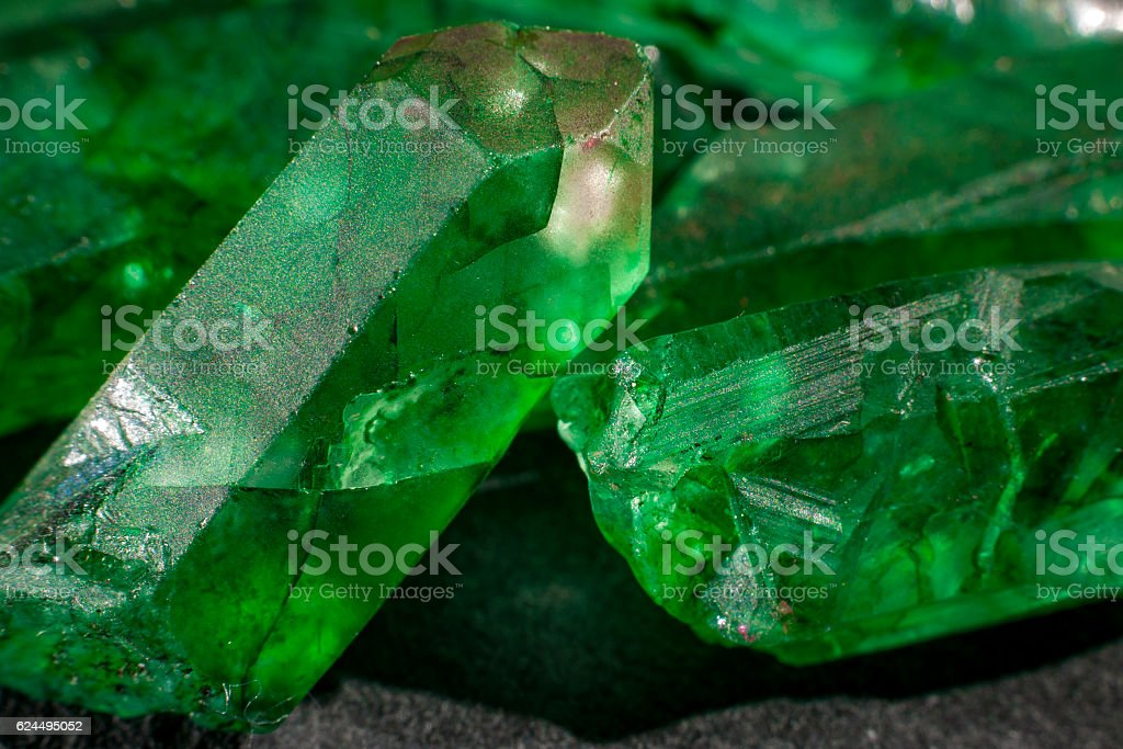 Macro image of raw jewels stock photo