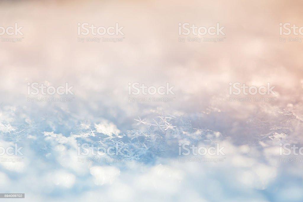 Macro image of snowflakes. stock photo