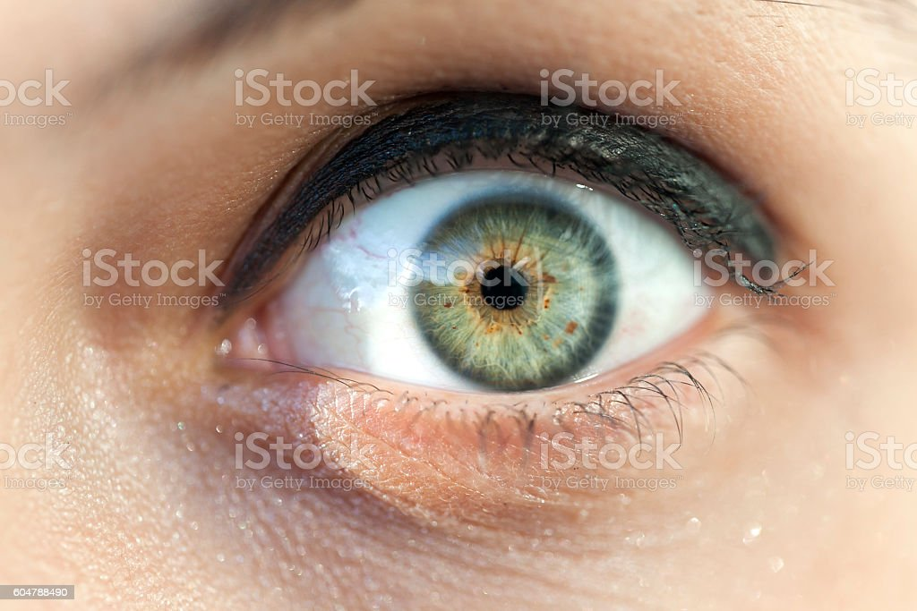 Macro image of woman eye stock photo
