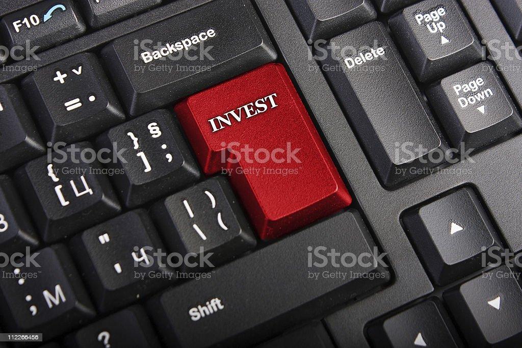 Macro Invest key royalty-free stock photo