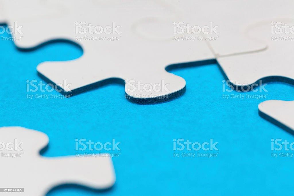 Macro jigsaw puzzle stock photo