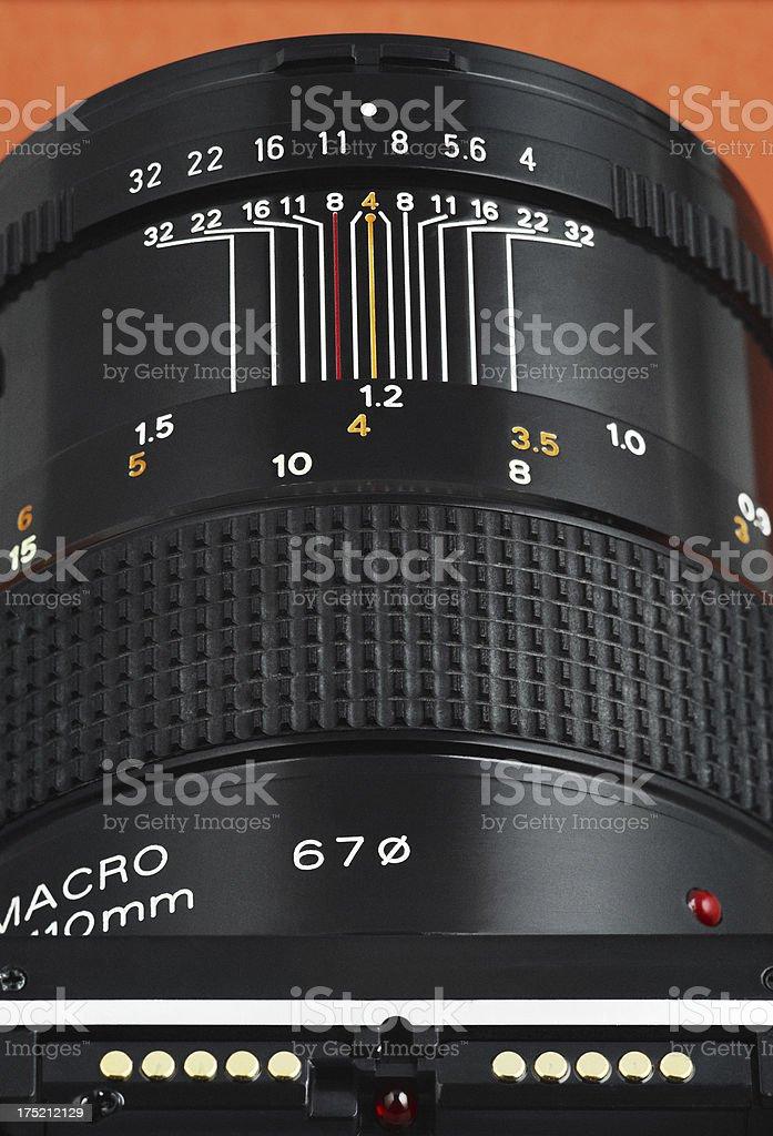Macro lens for close-ups stock photo