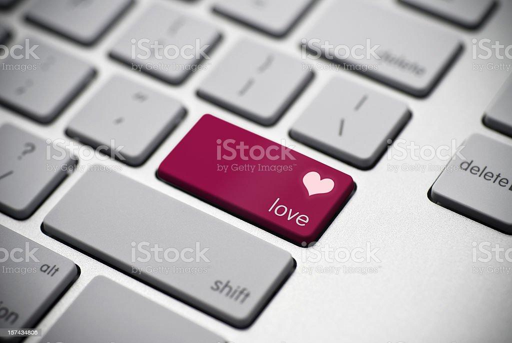 Macro Love Key stock photo