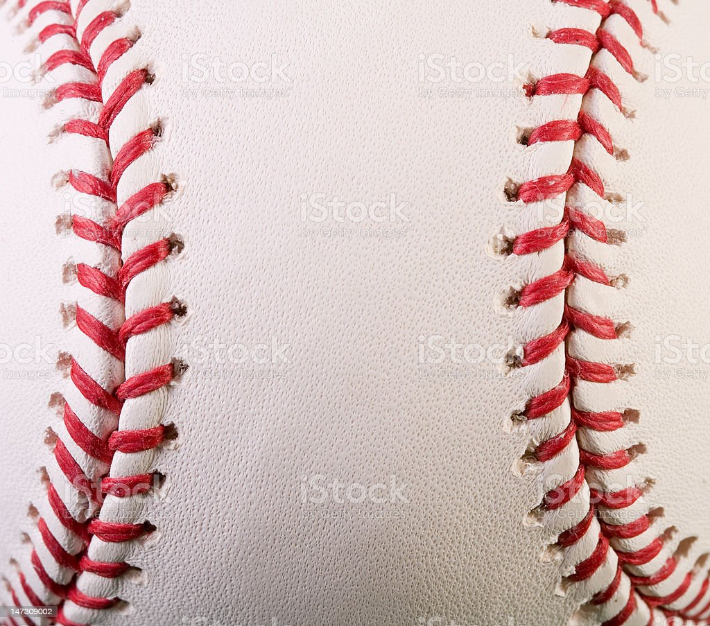 Macro New Baseball stock photo