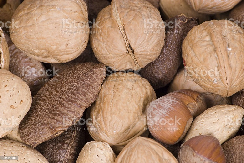 macro nuts royalty-free stock photo