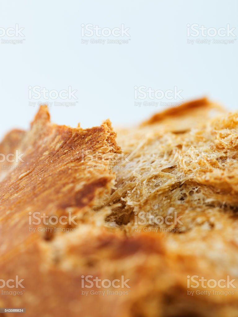 Macro of a sourdough bread stock photo
