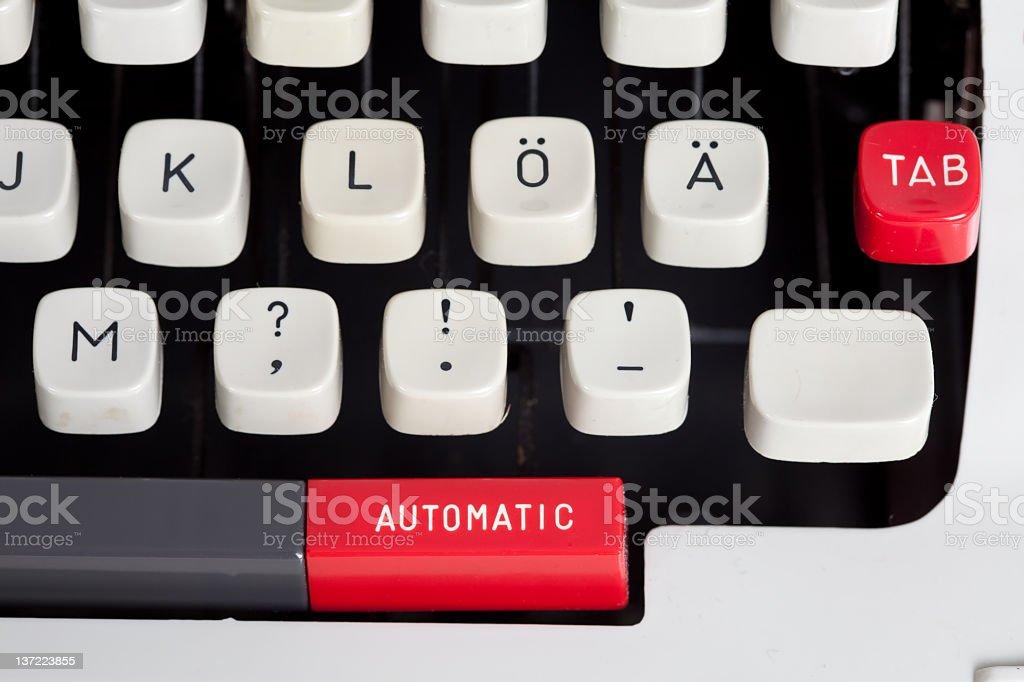 Macro of a typewriter royalty-free stock photo