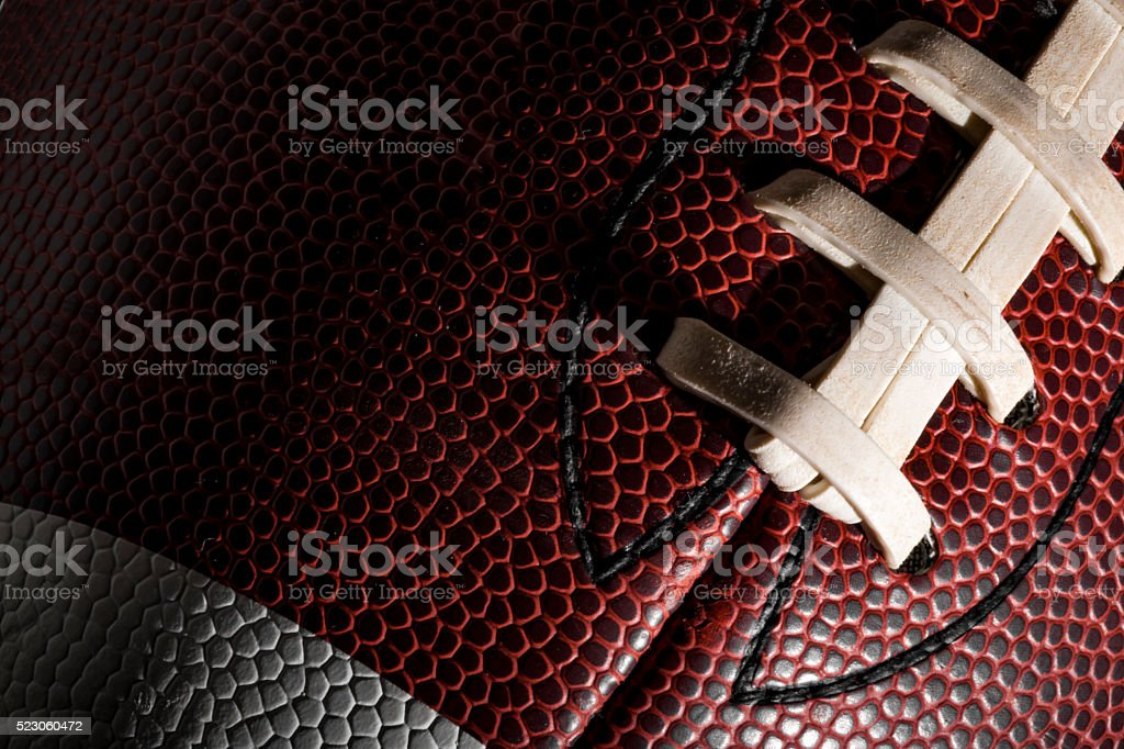 Macro of an american football ball stock photo