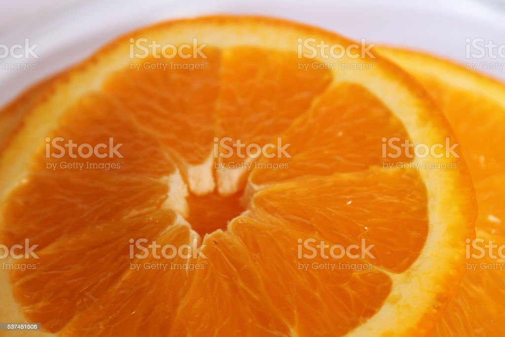Macro of an orange for backgrounds stock photo