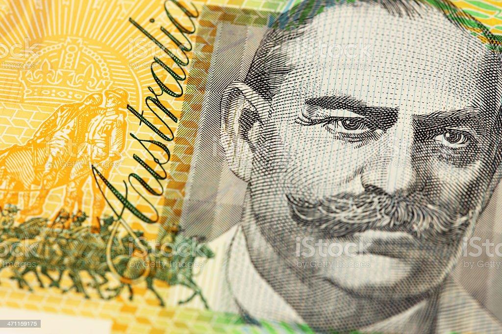 Macro of Aussie $100 Note stock photo