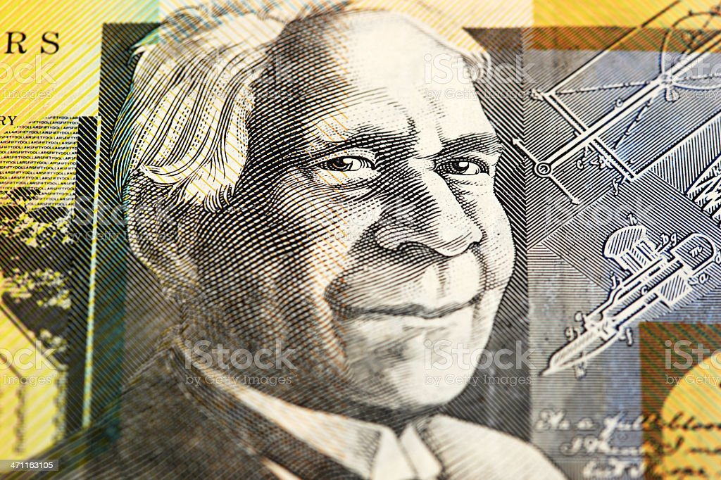 Macro of Aussie $50 Note royalty-free stock photo