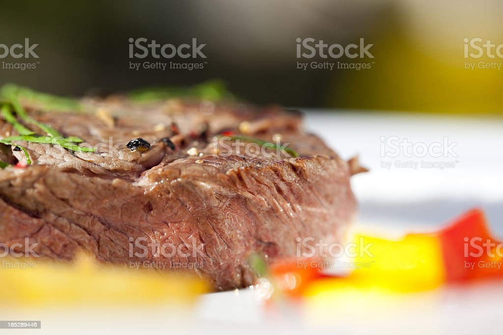 Macro of beef fillet royalty-free stock photo