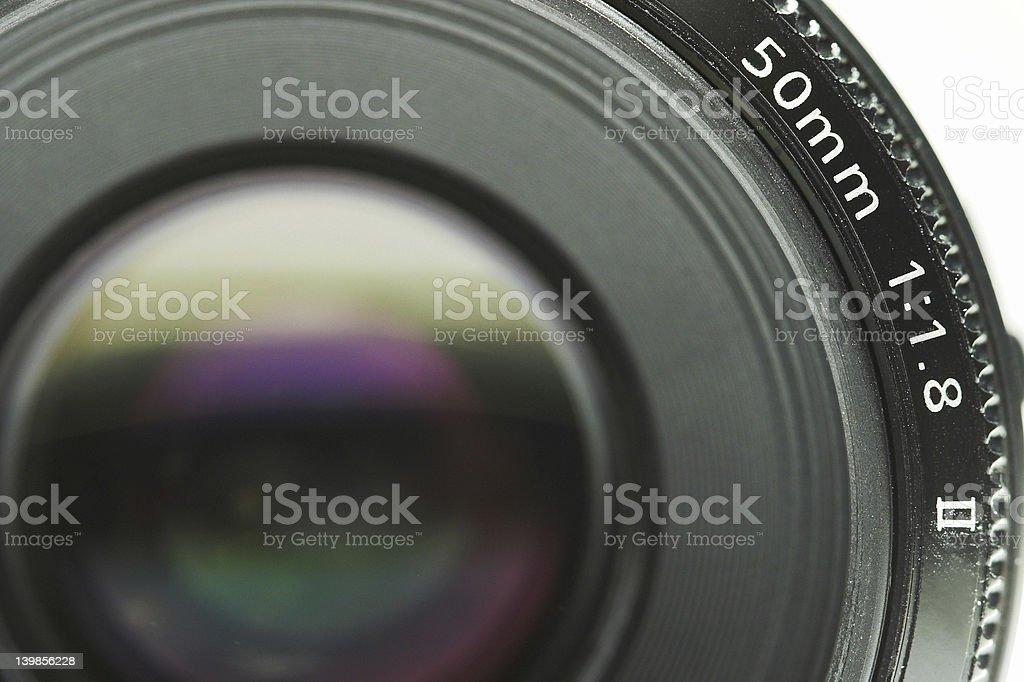 Macro of camera lens royalty-free stock photo