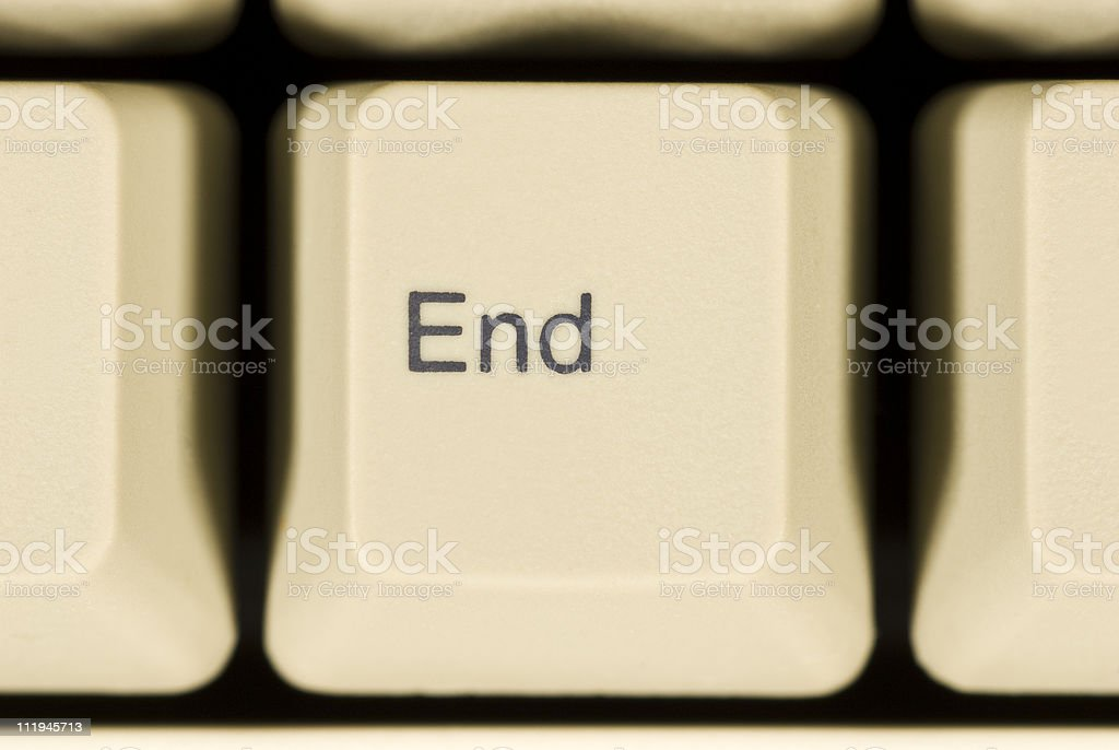 Macro of END Key on Computer Keyboard stock photo