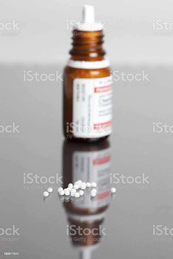 Macro of homeopathic pills stock photo