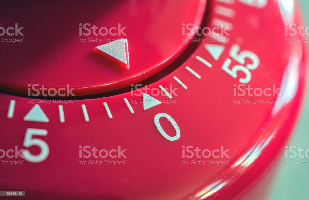 Macro Of Kitchen Egg Timer - 0 Minutes stock photo