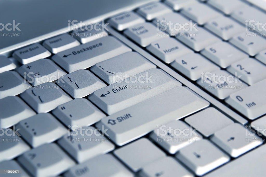 macro of laptop keyboard royalty-free stock photo
