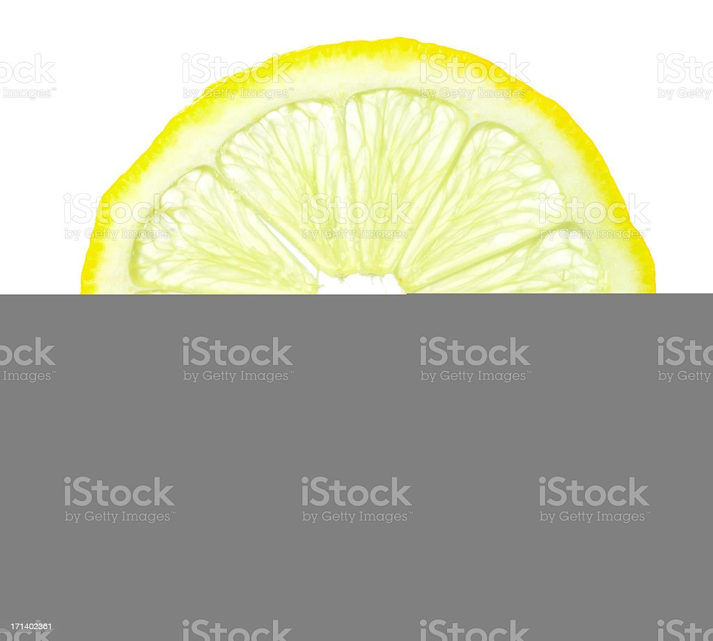 Macro of lemon slice stock photo