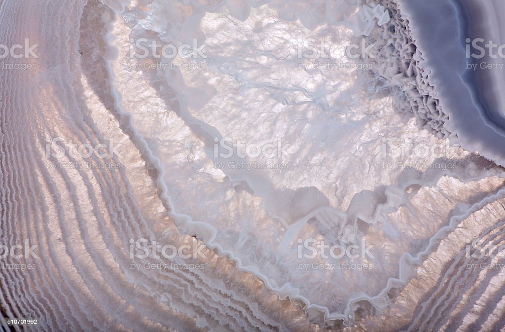 macro of light agate structure stock photo