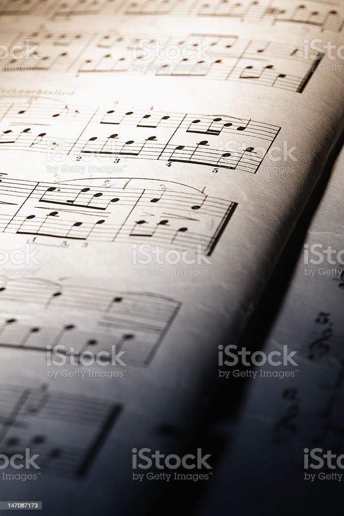 Macro of music sheet royalty-free stock photo