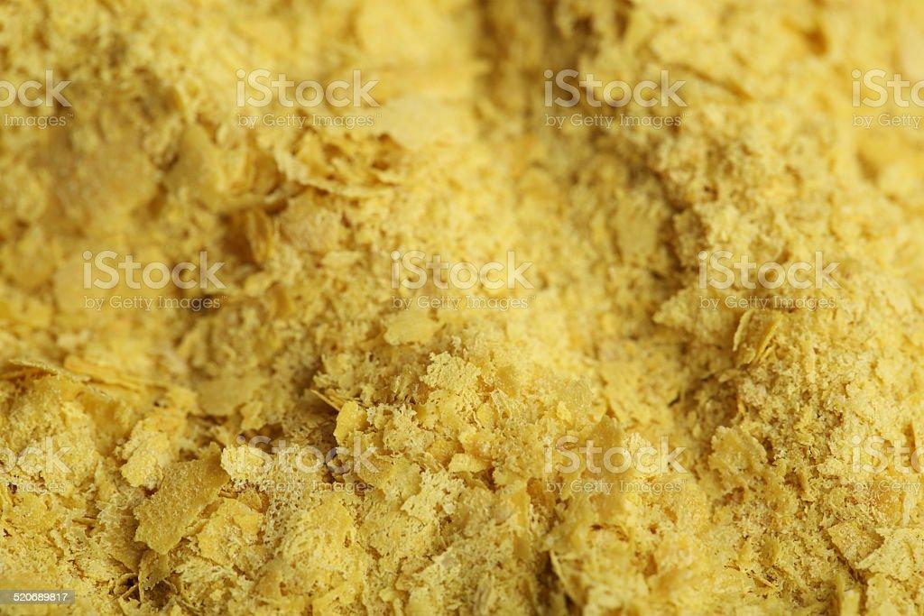 Macro of Nutritional Yeast stock photo