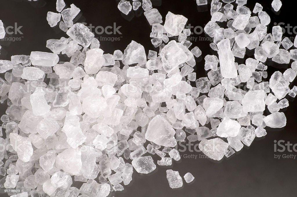 Макро морской соли кристаллами Стоковые фото Стоковая фотография