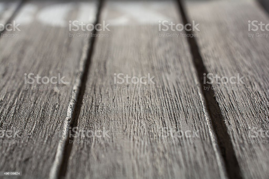 Macro Of Some Wood Panels With BOX Logo stock photo