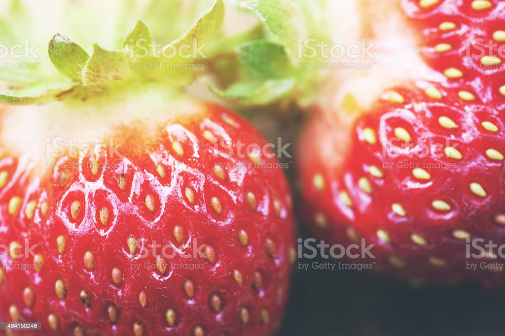 Macro of strawberry background stock photo