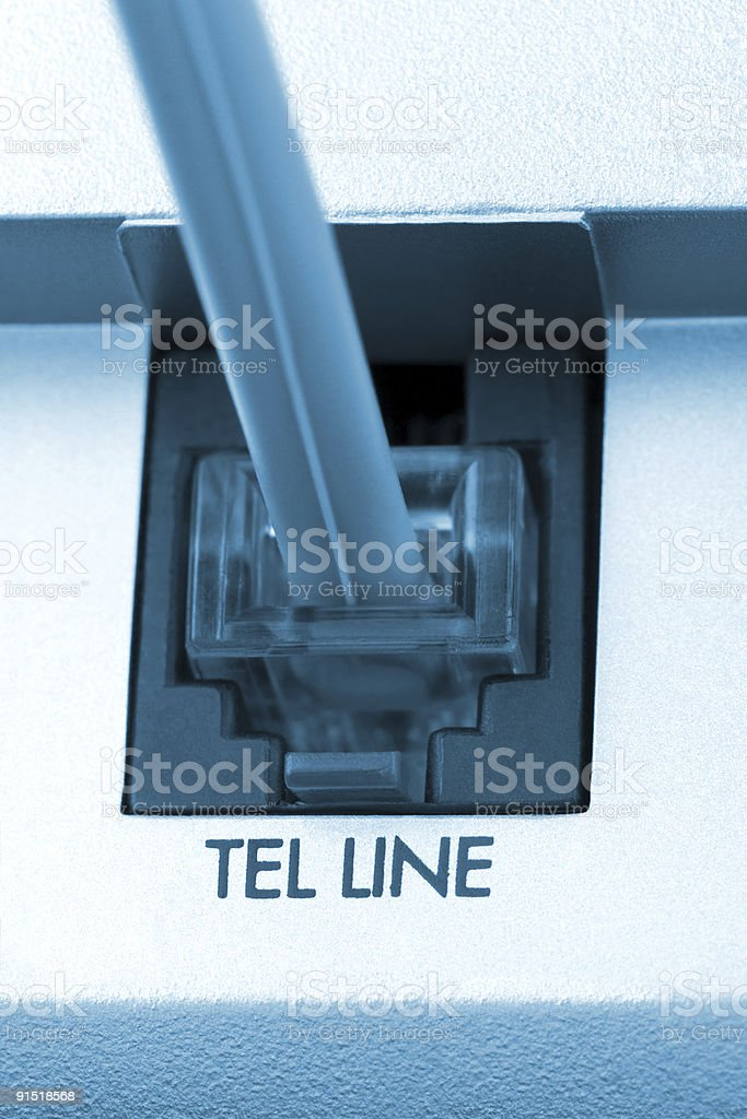 Macro of telephone cable royalty-free stock photo