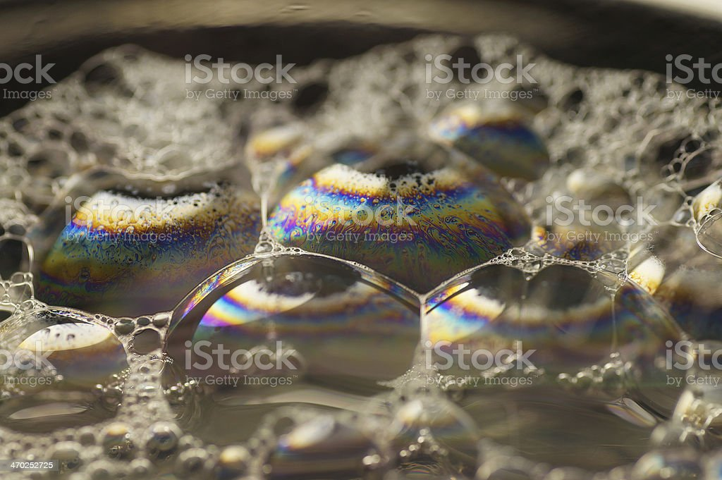 Macro of the surface bubble soap royalty-free stock photo