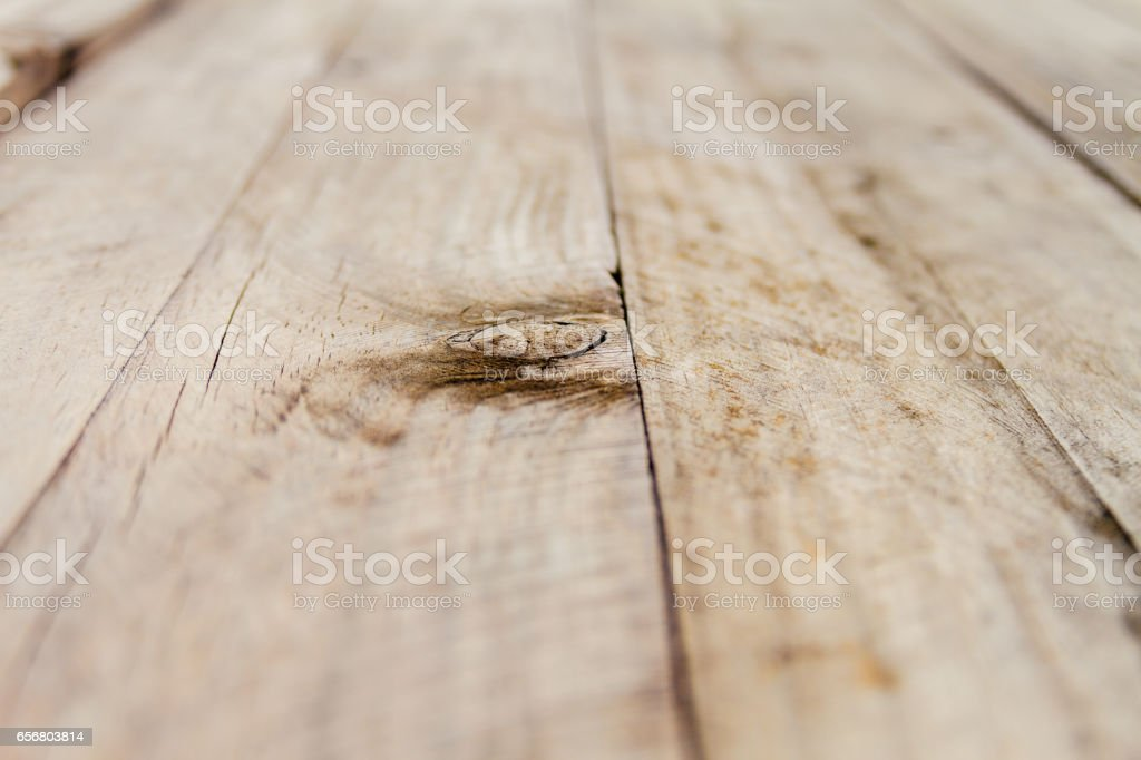 Macro of wooden knot on boards stock photo