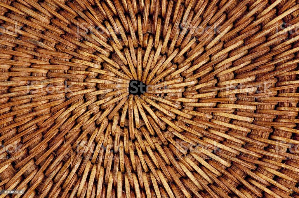 Macro of woven Thai mat. royalty-free stock photo