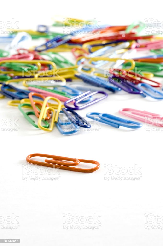 Macro Paper Clips royalty-free stock photo