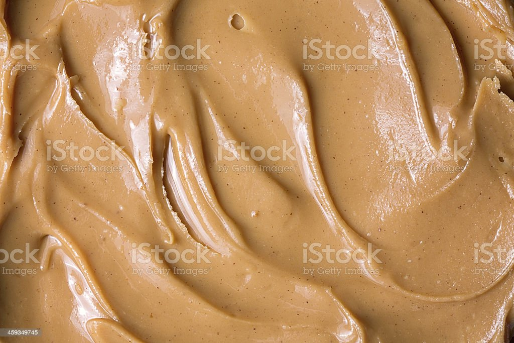 Macro Peanut Butter stock photo