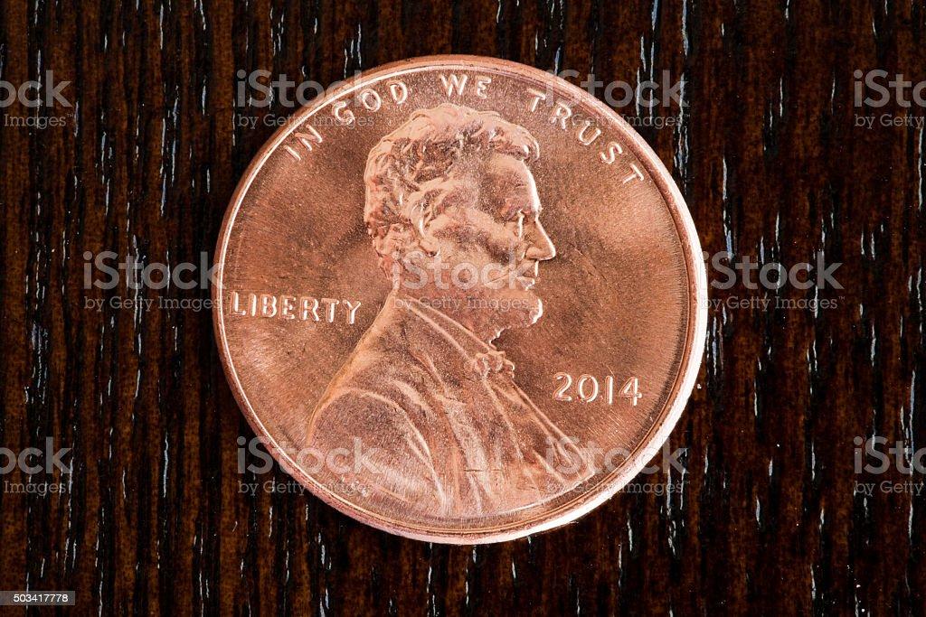 Macro Penny stock photo