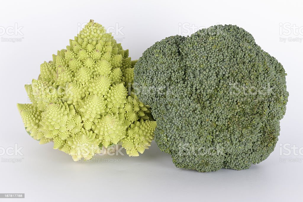 macro photo from romanesco cauliflower and broccoli stock photo