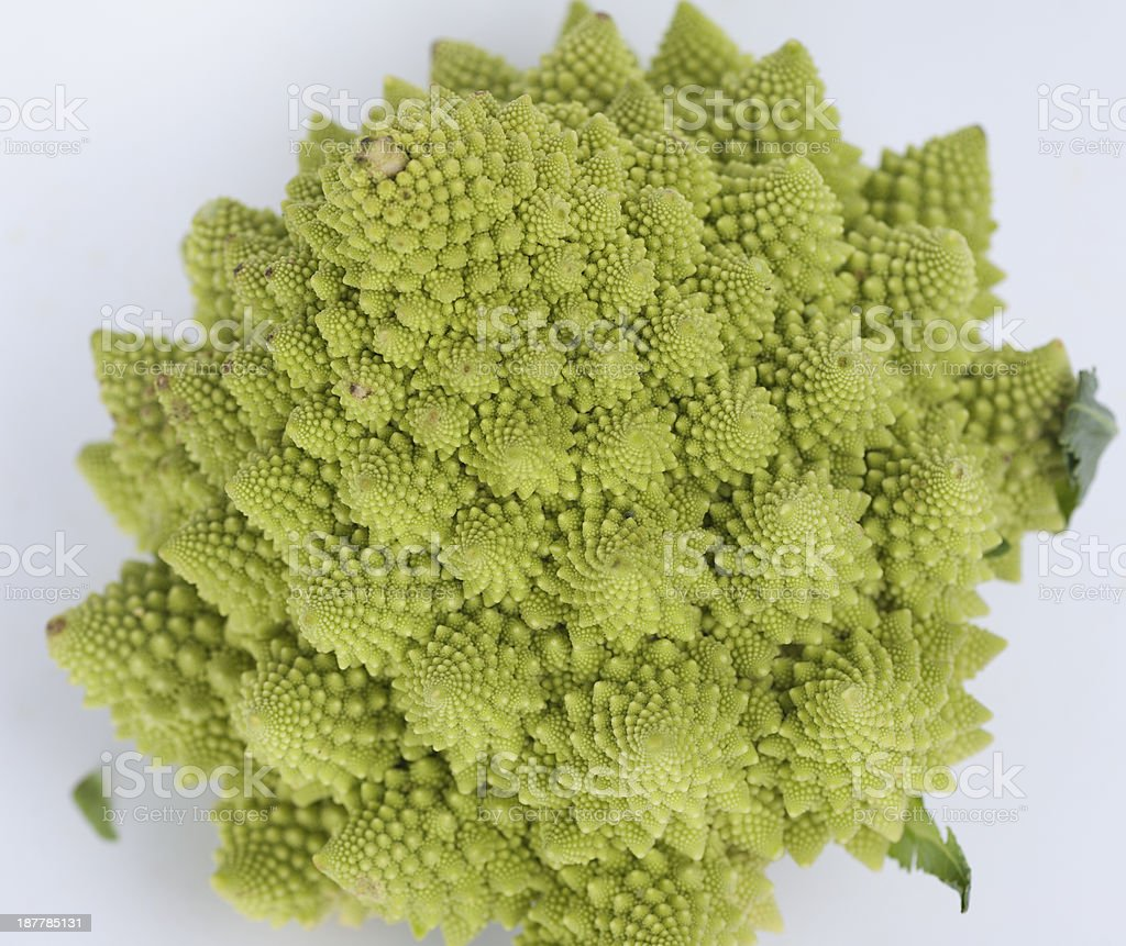 macro photo of a romanesco cauliflower stock photo