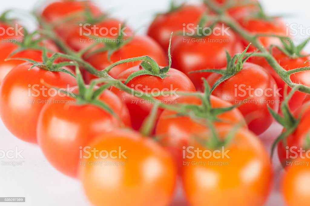 macro photo of cherry tomatos stock photo