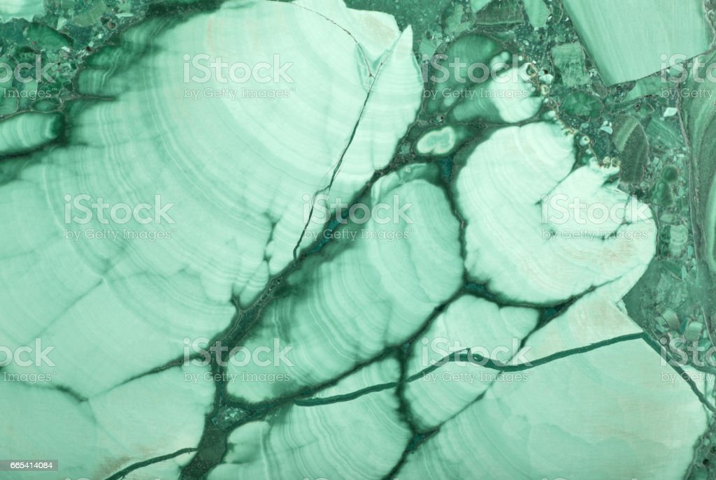 macro photo of dark and light green malachite stock photo