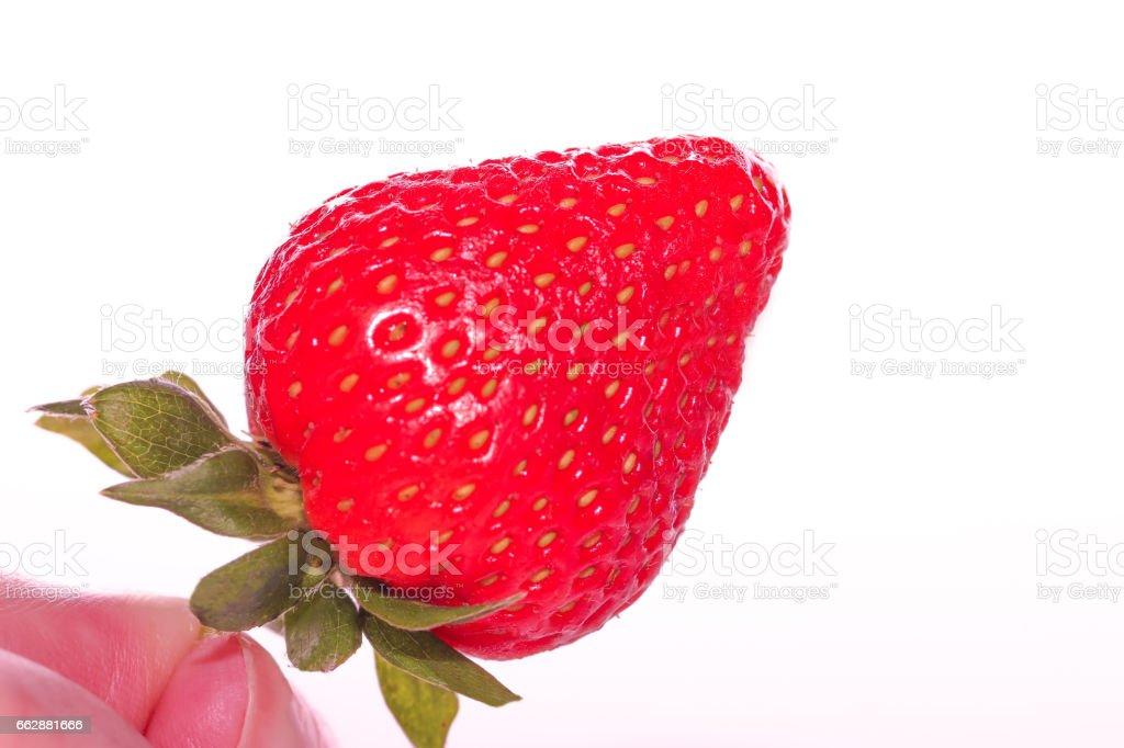 Macro Photograph of a Strawberry stock photo