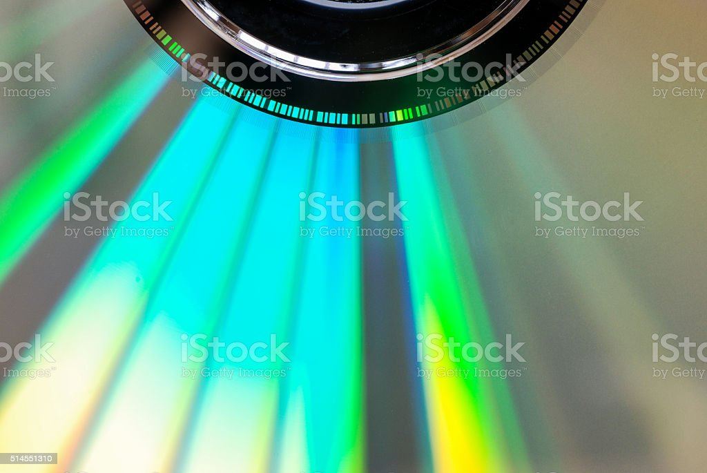 CD/DVD macro stock photo