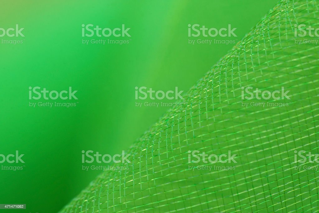Macro picture of green Tulle stock photo
