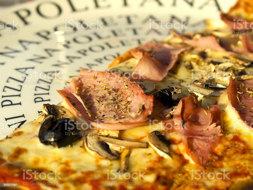 Macro Pizza royalty-free stock photo