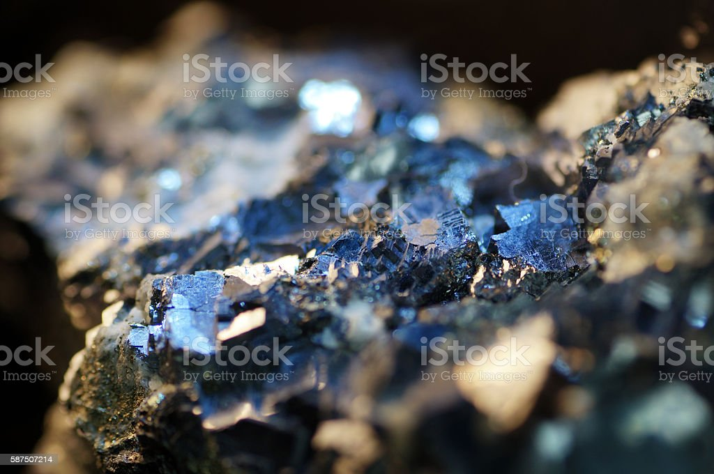 Macro Pyrite mineral stock photo