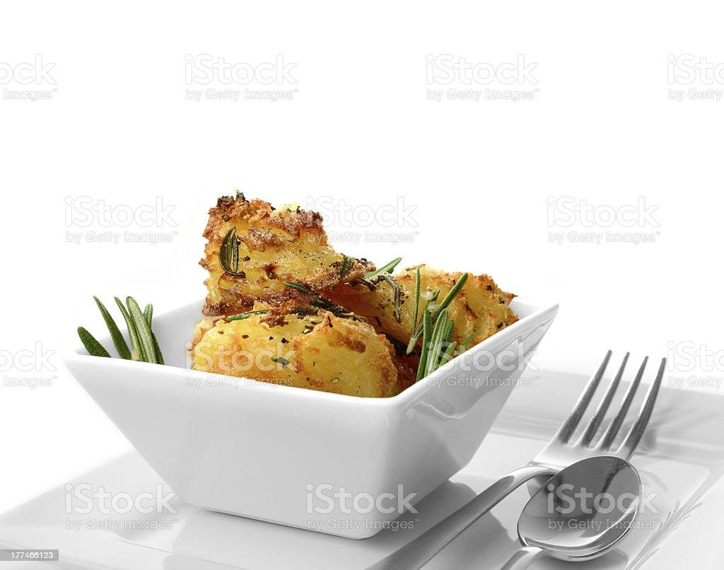 Macro Roast Potatoes royalty-free stock photo