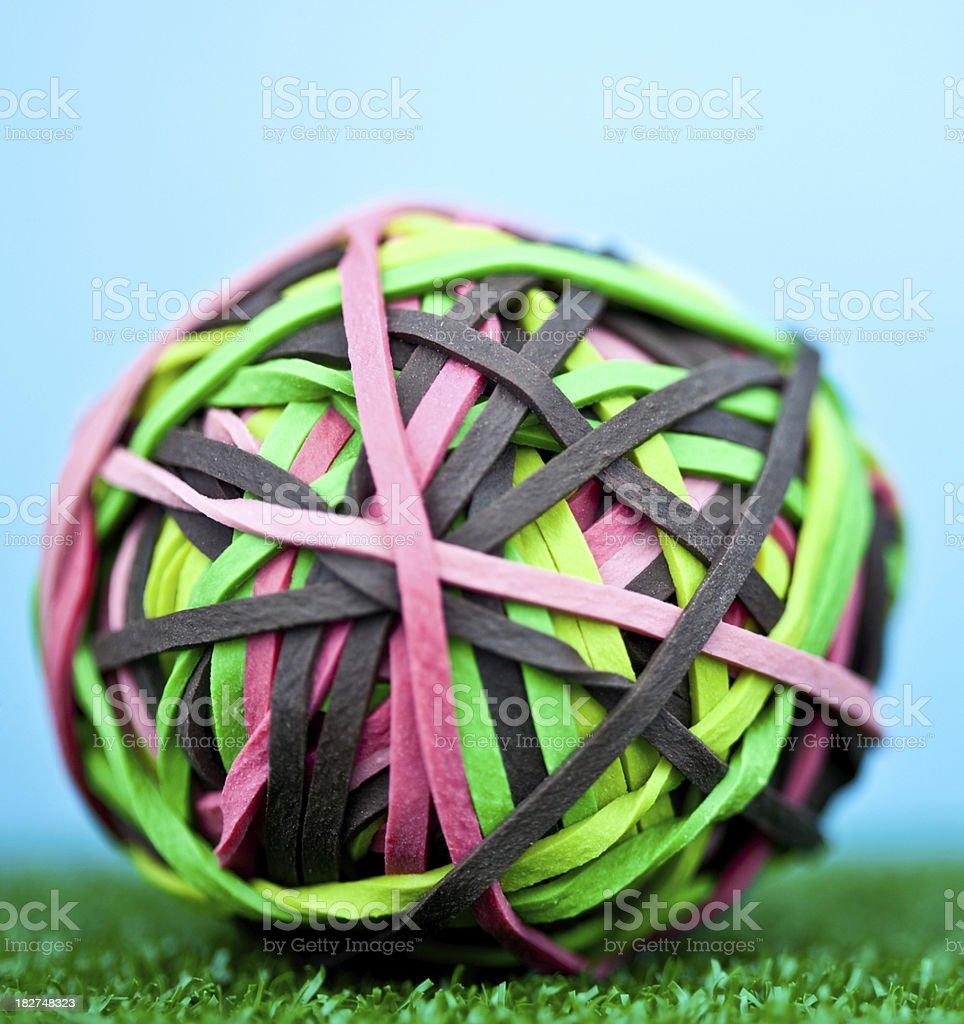 Macro Rubber Band Ball royalty-free stock photo